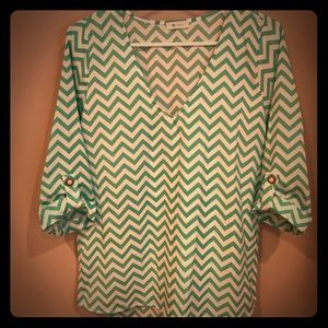 Everly Chevron Top - Worn Once!! - Medium
